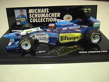 F1 BENETTON 1995 RENAULT B195/2 SCHUMACHER o 1/24 MINICHAMPS 510952401 formule 1