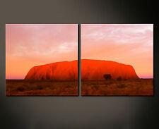 ROJO ROCK Wall Imagen Imágenes Lienzo Paisaje AYERS ULURU Australia Rojo XL