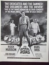 1962 Rock Hudson & Burl Ives in THE SPIRAL ROAD Movie Advertisement