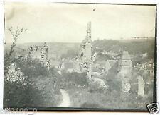 41 . Lavardin vue du château . photo ancienne . 1906 .