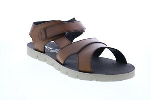 Geox U Glenn E Mens Brown Leather Strap Sport Sandals Shoes