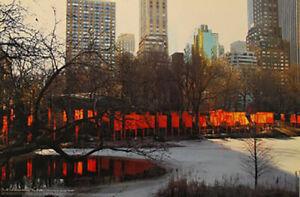 Christo the Gates Central Park New York Offsetdruck The Gates