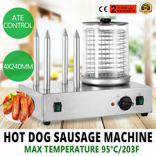 Roll Grill Hot Dog Steamer Sausage Machine waffle Making Cooker Kitchen PRO