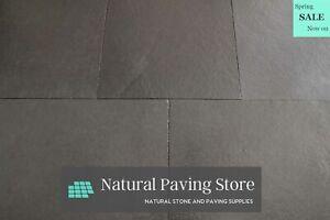 Black Indian Limestone paving patio slabs 600×900 22mm Calibrated SAWN EDGE