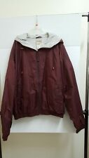 Steve And Barry's Quality Athletic Goods, Burgundy Color Nylon Jacket, Size M