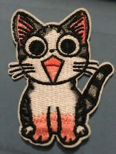 """Chi's Sweet Home Cat Embroidered  Iron/Sew ON Patch Cloth Sew Applique 1.25""""x2"""""""