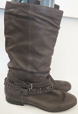 SOFFT Valencia Slouch Boots with Studs - Grey - Size 10
