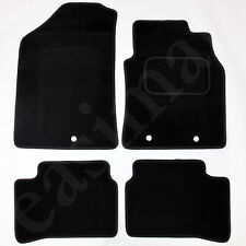 Hyundai i10 Mk2 2014 onwards Tailored Carpet Car Mats Black 4pc Floor Mat Set
