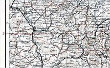 Schmalkalden Suhl Ohrdruf Salzungen 1927 kl. orig. Teil-Karte Meiningen Wasungen