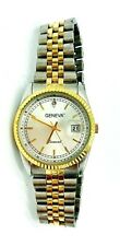 Geneva Mens Rolex Look Round Tu-Tone Yellow & Silver Bracelet Watch