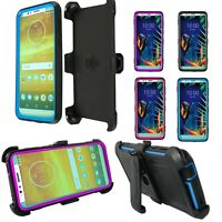 Moto G7 Power/G7 Supra Phone Case Heavy Duty Cover With Screen Protector Clip
