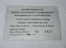 MUHAMMAD ALI KEN NORTON WORLD HEAVYWEIGHT CHAMPIONSHIP CLOSED CIRCUIT TV TICKET