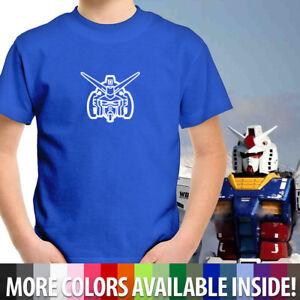 Gundam RX-78-2 Face Symbol Shirt Unisex Kids Boy Youth Tee T-Shirt Cotton