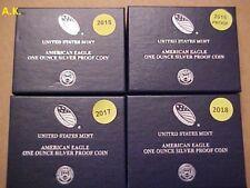 Proof Silver American Eagle 2015-1016-2017-2018