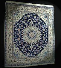 Nain con Seda Orient-Teppich Multa 288x246 cm - Lana Anudada a Mano Top