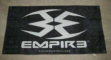 "Empire Paintball Black & White Polyester Banner 48"" x 25"""