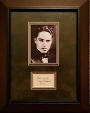 Charlie Chaplin Framed Autograph With Certificate of Authenticity