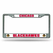 Chicago Blackhawks Plate Chrome Licence Plate Tag Frame for Car/Auto
