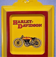 Harley-Davidson Motorcycle Embossed Tin Ad Thermometer  Classic Harley-Davidson