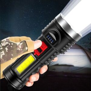 10000000LM Super Bright Powerful LED USB Rechargeable Torch Flashlight Mini Lamp