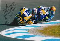 James TOSELAND SIGNED YAMAHA Leads ROSSI MOTOGP 12x8 Photo AFTAL COA Autograph