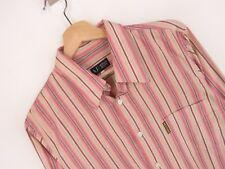 RP2089 Armani Jeans Chemise Original Premium Vintage Italie à Rayures Rose Aj