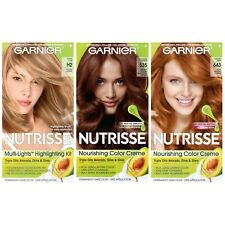 Mixed Lot of 3 Garnier Nutrisse Permanent Hair Color H2 Blonde 643 Red 535 Brown