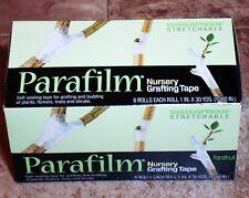 "Parafilm Nursery Grafting Tapes 6 Rolls; 1""wide X 1080"" Long Per Roll"