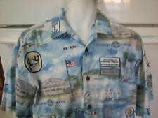 Newport Harbor High School Newport Beach XL pictorial Hawaiian shirt RaRe