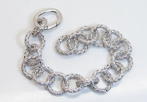 """NICE! New 925 Sterling Silver 6.5"""" Ladies Beautifully Woven Link Style Bracelet"""