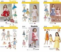 Simplicity Sewing Patterns Girls' Toddlers' Retro Vintage Dresses Playsuit Skirt