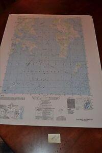 1940's Army topographic map Gunpowder Neck Maryland  -Sheet 5762 IV SE