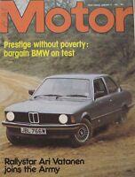 Motor magazine 17/1/1981 featuring BMW road test