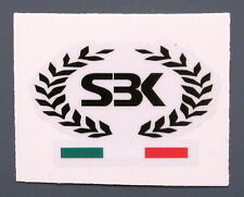 DUCATI SUPERBIKE WREATH/BLACK TRICOLOUR FLAG ON CLEAR FOR FUEL TANK TOP