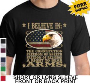 PatrioticAmerican Freedom Of Speech Religion Right To Bear Arms Mens T Shirt