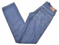 LEVI'S Womens Jeans W26 L32 Blue Cotton Slim Patty Anne Square Cut MB03