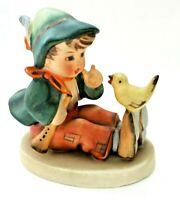 "Goebel HUMMEL ""SINGING LESSON"" #63 Boy w/ Bird Porcelain Figurine TMK 2 Gift"