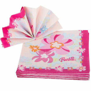 Barbie Flower Luncheon Party Napkins 2-Ply 16-Pack