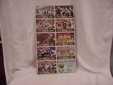 RARE 1990's Green Bay Packers vs Minnesota Vikings Sentry Foods Uncut Sheet NMMT