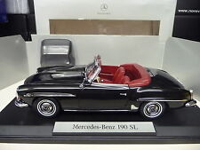 1:18 NOREV Mercedes 190SL schwarz black Dealer Edition NEU NEW