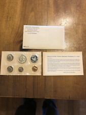 1965 SPECIAL MINT SET WITH SILVER PROOF-LIKE KENNEDY ENVELOPE COA a65#1 S.M.S
