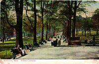 Vintage Postcard - Posted 1910 Boston Common Park Massachusetts MA #3190