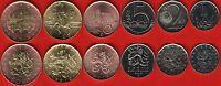 Czech Republic set of 6 coins: 1 - 50 korun 2010-2013 UNC