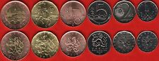 Czech Republic set of 6 coins: 1 - 50 korun 2010-2013 UNC