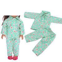 Vêtements de poupée pyjamas Green Cheery