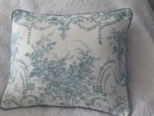 "Laura Ashley Tuileries duck egg Fabric piped Back Bacall 16""x 13"""
