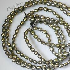 """LOVELY HONORA TRIPLE STRAND TEAL BAROQUE AND OVAL 18/"""" NECKLACE NEW"""