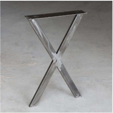 Raw Steel Writing Desk Table Legs X 1 Pair 71cm Tall 45cm Wide