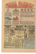 1970 Coin Curios Littleton Stamp & Coin Co, Mighty Muscles Advertisement
