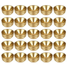 Pack 25 - No.8 BRASS SCREW SOCKETS Decorative Cup Washer Cabinet Furniture